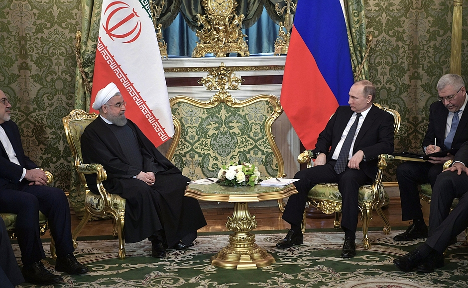 Лидеры России и Ирана обсудили актуальные вопросы ситуации на Каспии