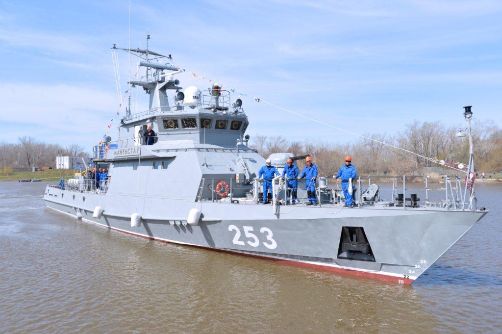 Спущен на воду очередной корабль Военно-морских сил Казахстана