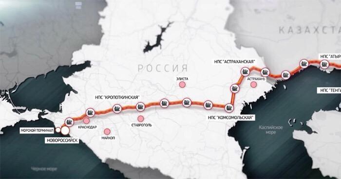 Общий экспорт нефти через систему Каспийского трубопроводного консорциума достиг 500 млн тонн