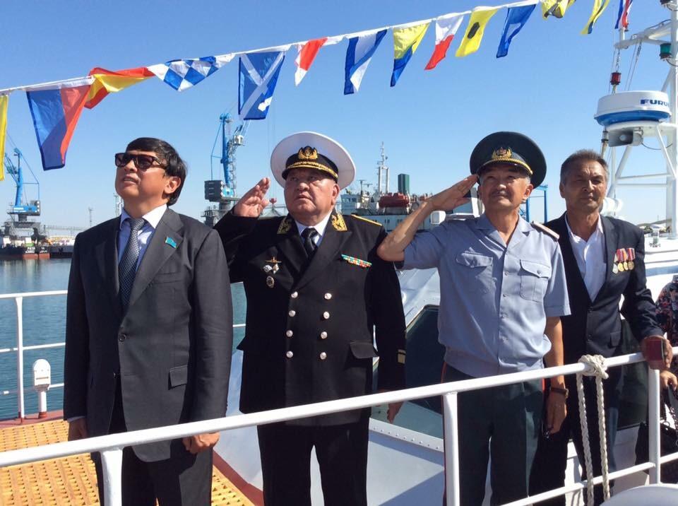 Поднят флаг на очередном казахстанском военном катере