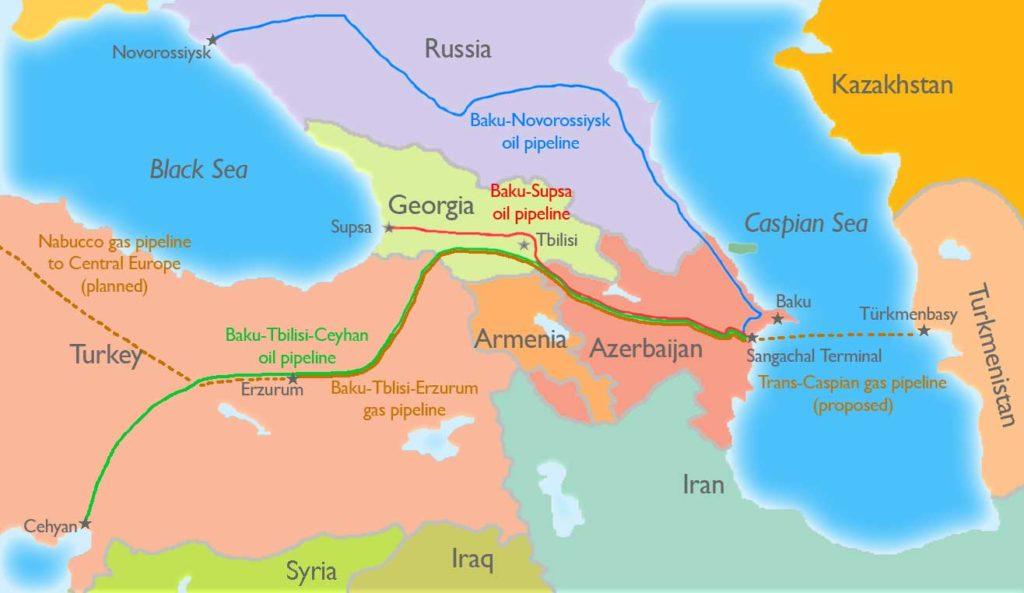 Перспективные трубопроводы Каспия в центре внимания участников региональных геополитических процессов