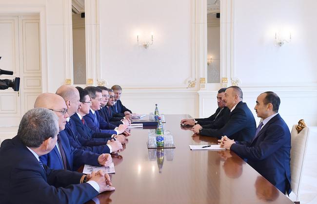 Губернатор Астраханской области встретился с президентом Азербайджанской Республики