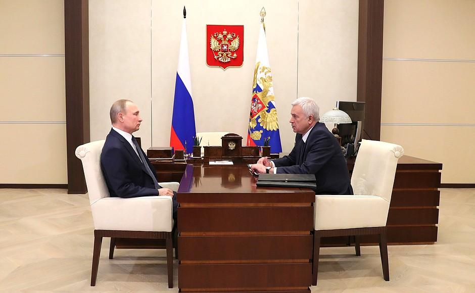 Владимир Путин обсудил с главой ЛУКОЙЛА Вагитом Алекперовым нефтяные проекты на Каспии