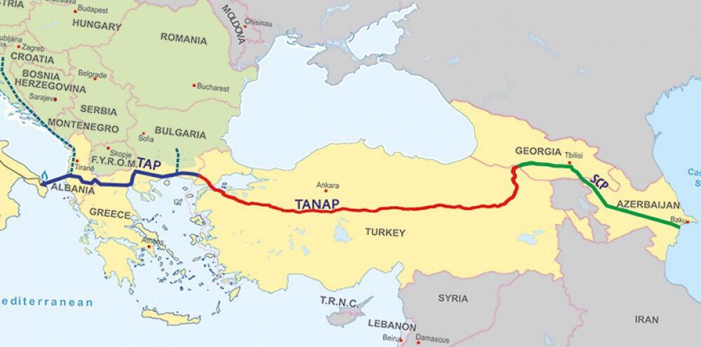 Заканчивается строительство Трансанатолийского трубопровода