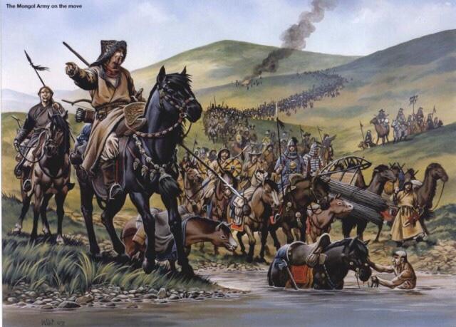 Завоевание монголами дельты Волги в XIII веке