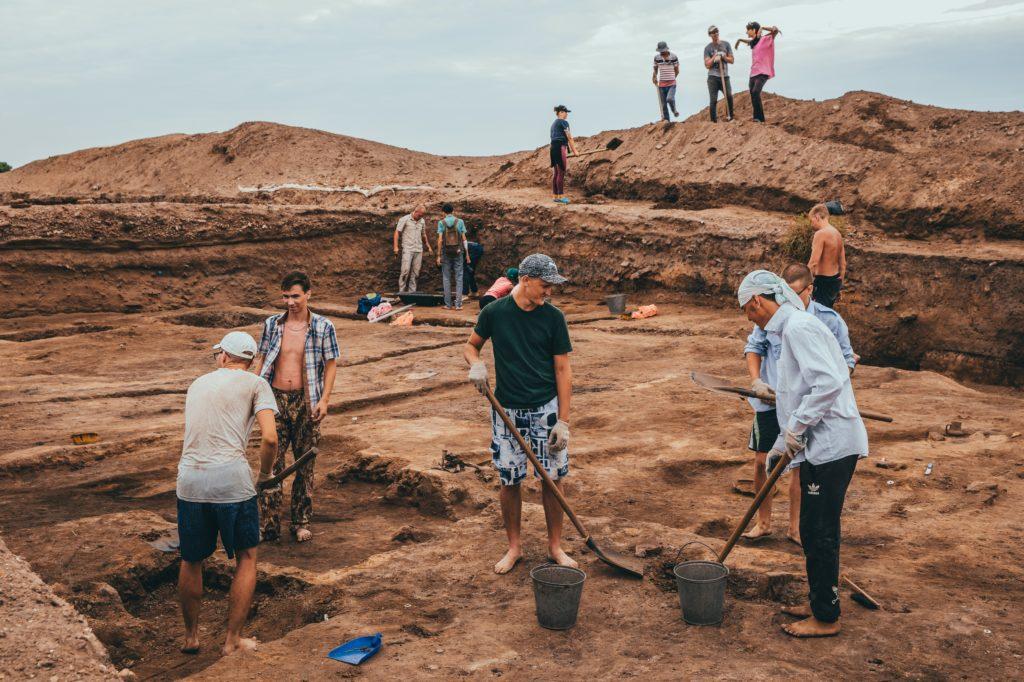Археологические исследования на Самосдельском городище