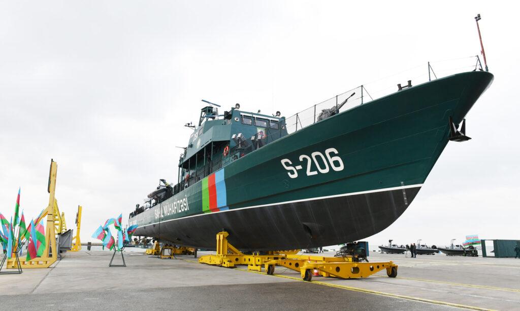 Пограничная флотилия Азербайджана пополнилась новым сторожевым кораблем