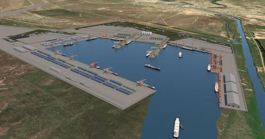 Для строительства порта Лагань и канала Евразия требуется 100 млрд рублей
