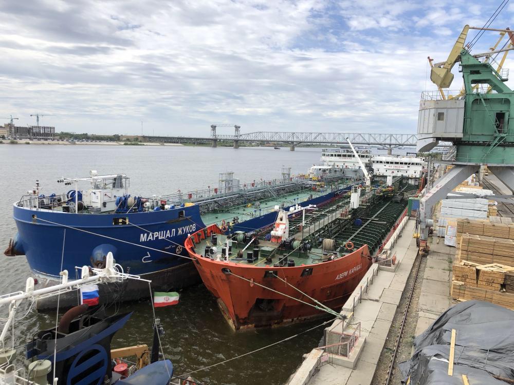 В морских портах Астраханской области увеличился грузооборот