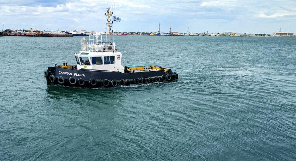 На Каспий прибыл новый портовый буксир   «Каспиан Флора»