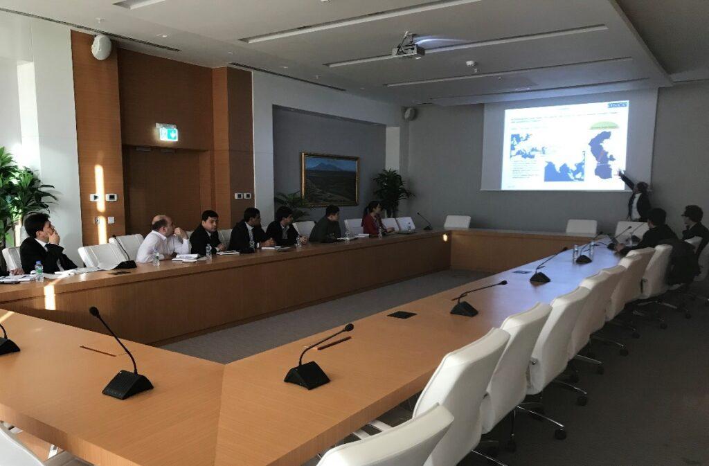 В международном морском порту Туркменбаши прошла встреча по проекту ОБСЕ «Зеленые порты»