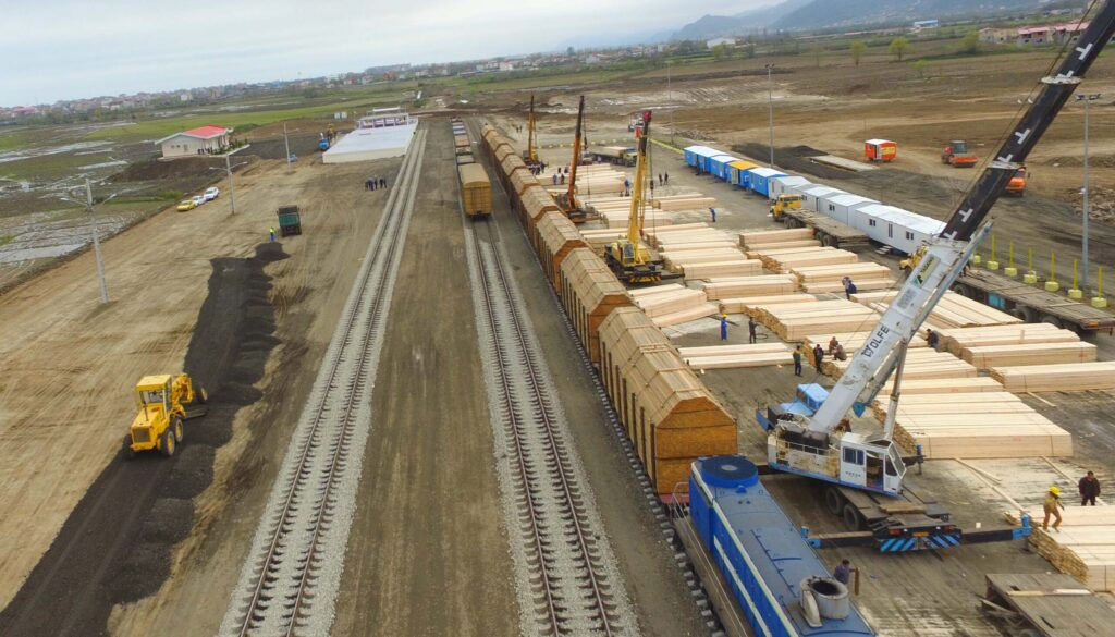 Грузооборот по железнодорожной ветке МТК «Север-Юг» вырос на 33 процента