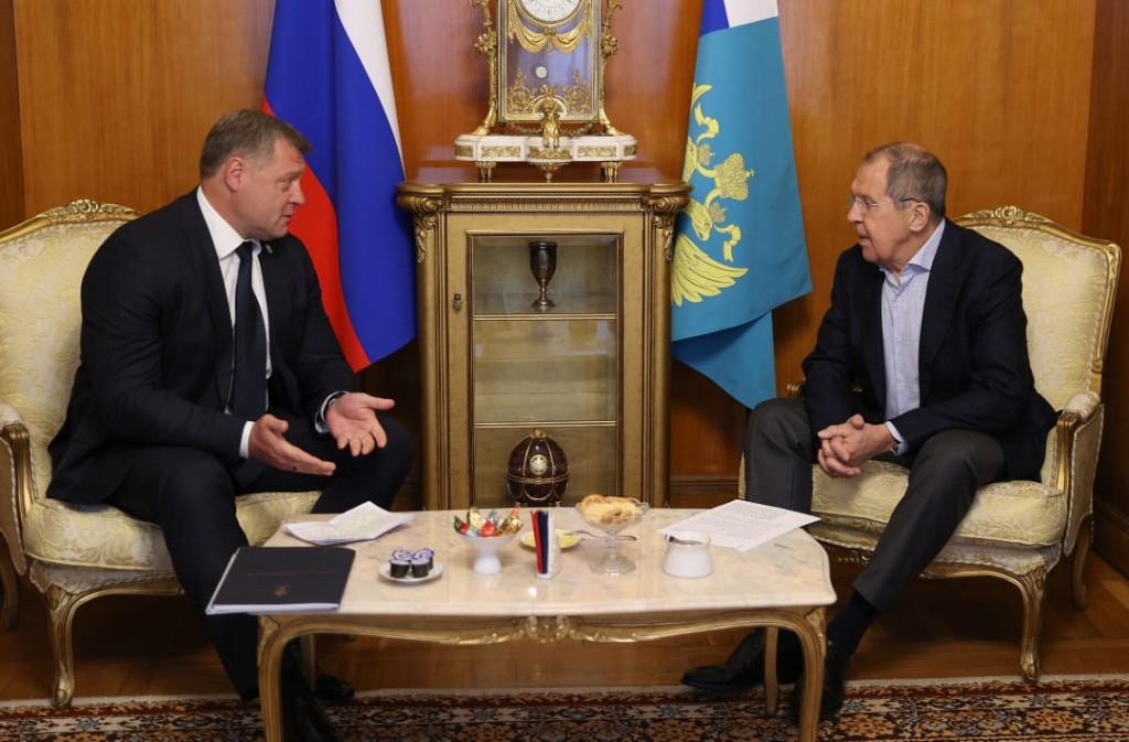 Губернатор Астраханской области встретился с главой МИД РФ
