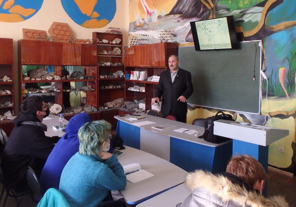 Прочитаны лекции для студентов геолого-географического факультета Астраханского госуниверситета