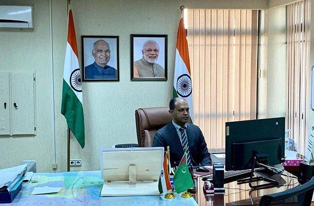 Посол Индии в Туркменистане проводит работу по развитию двустороннего сотрудничества