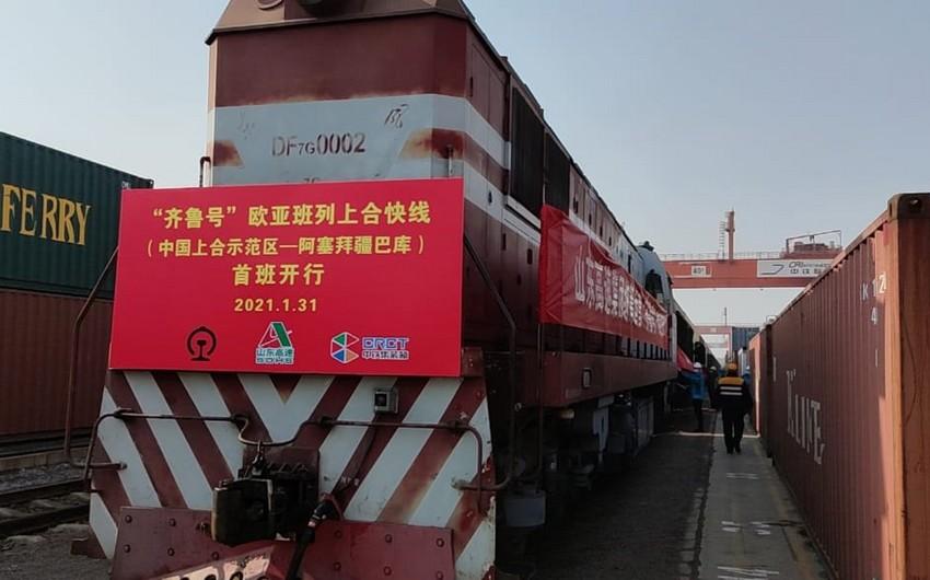 Первый в 2021 году контейнерный поезд «Китай-Азербайджан» отправился в Баку из Циндао