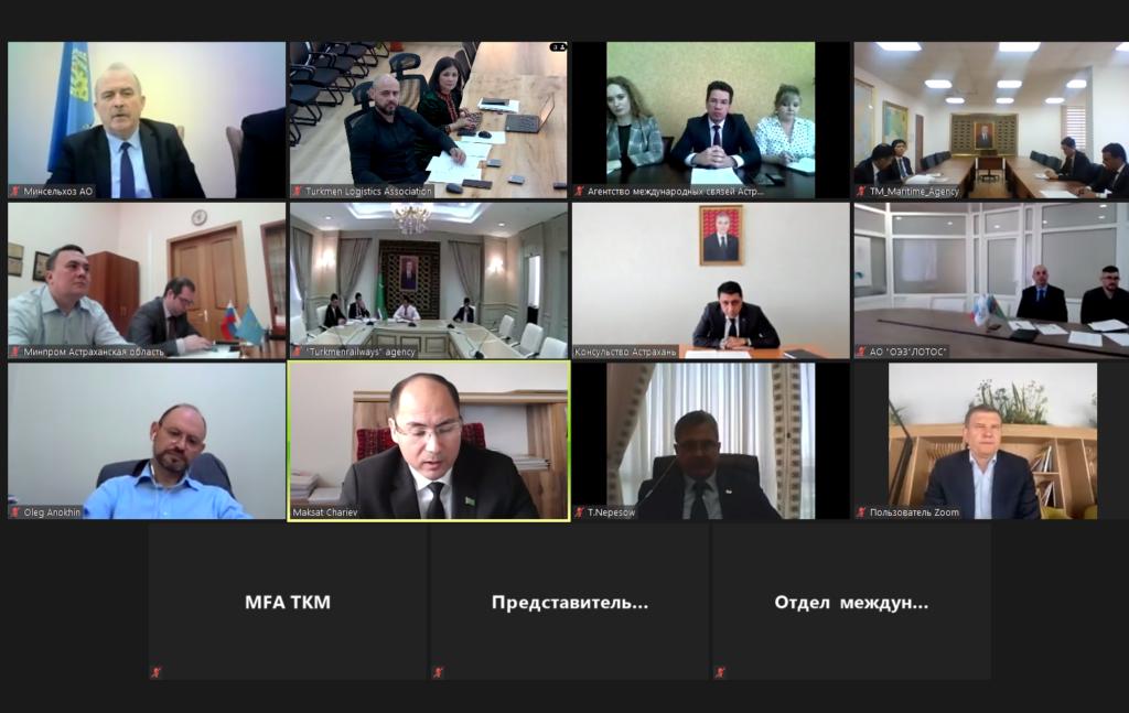 Обсуждено создание логистического центра Туркменистана в Астраханской области