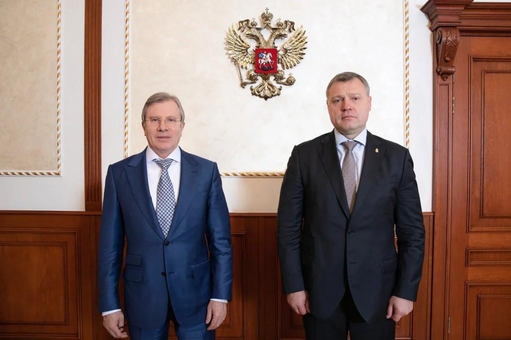 Губернатор Игорь Бабушкин обсудил с главой Минтранса РФ перспективы портовой ОЭЗ