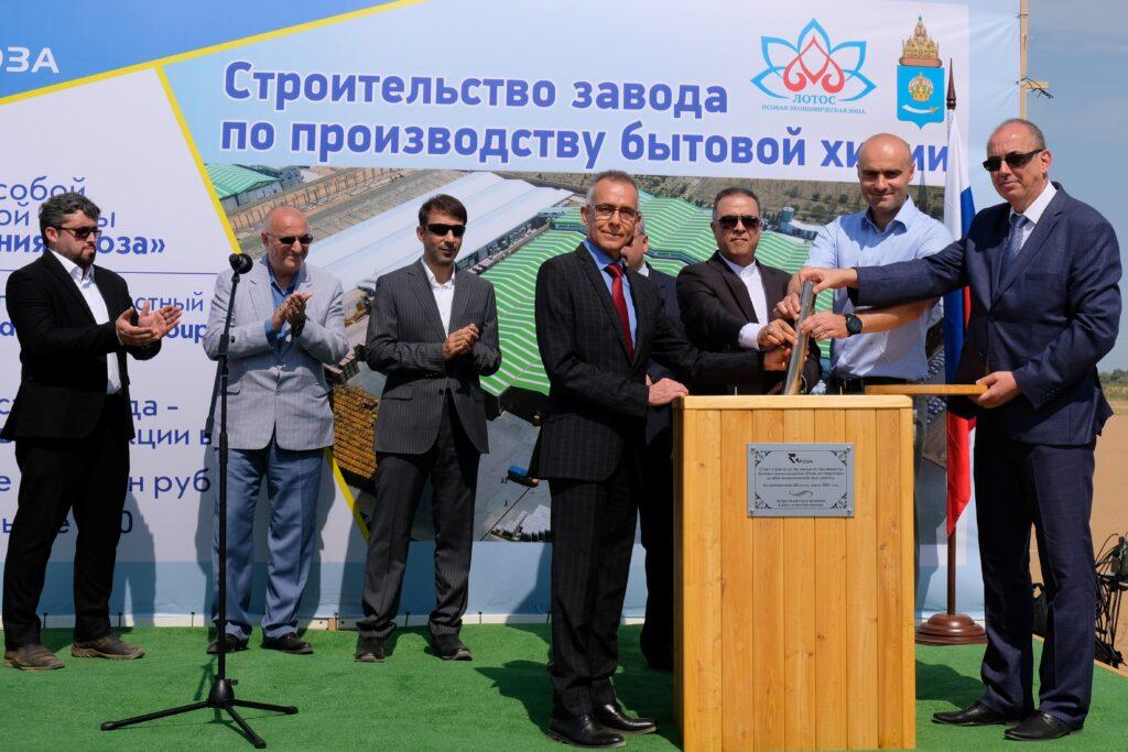 В астраханской ОЭЗ «Лотос» началось строительство первого завода иранского холдинга Golrang