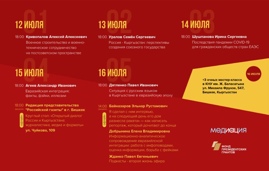 Проект МедИАЦия продолжается: следующая остановка – Бишкек