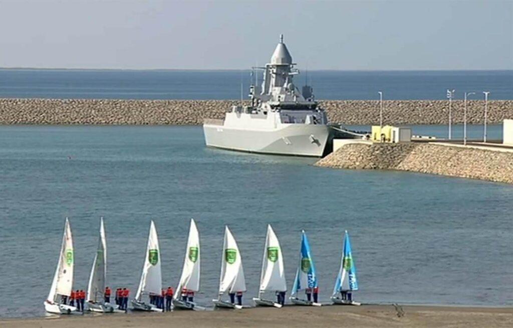В Туркменистане построен новый корвет и открыты новые военные объекты на каспийском побережье