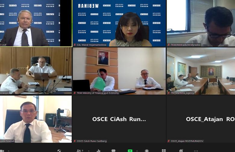 В Туркменистане состоялся семинар ОБСЕ по управлению портами и морской логистике