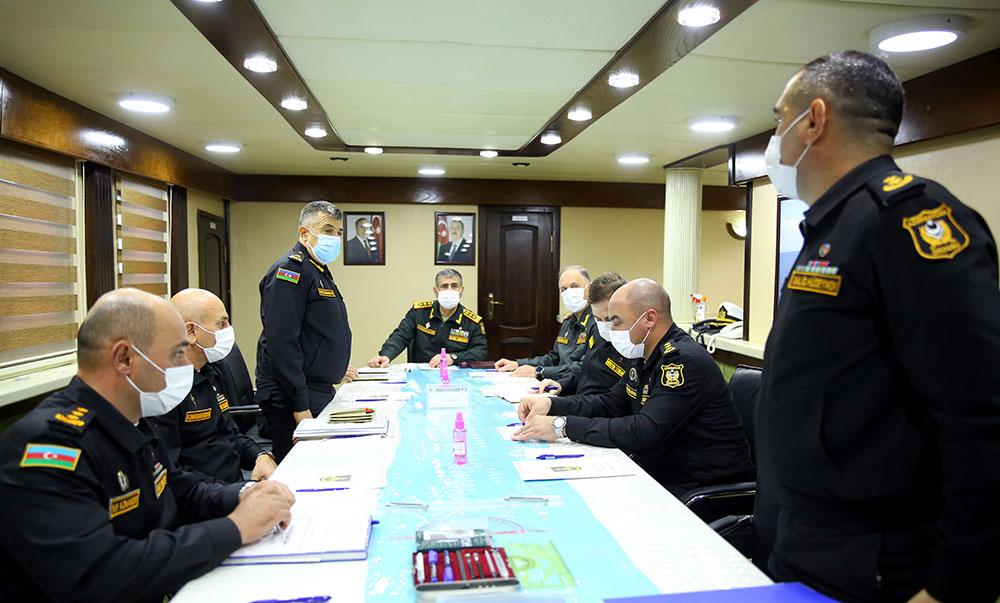 Военно-морские силы Азербайджана провели командно-штабные учения